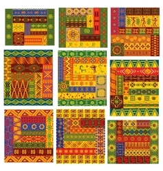 African ethnic patterns and ornaments vector