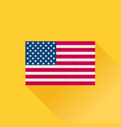 America flag american icon flat design vector