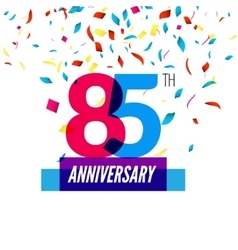 Anniversary design 85th icon anniversary vector image
