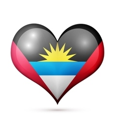 Antigua and Barbuda Heart flag icon vector image