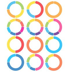 Arrow circle set vector