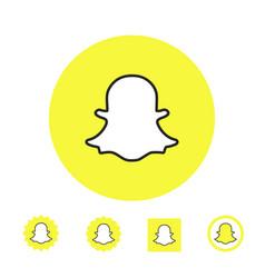 astana kazakhstan -10 july 2020 snapchat icon vector image