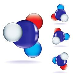 atom three vector image