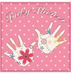 Background baby shower girl vintage vector