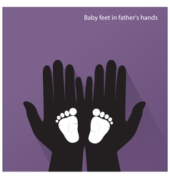 Bafeet in mother s hands vector