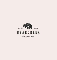 bear creek mount logo hipster retro vintage icon vector image
