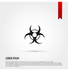 Biohazard Icon Danger concept Flat design st vector