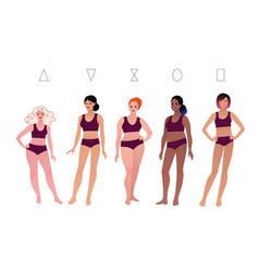 bodypositive female body types vector image