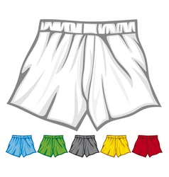 boxer shorts collection vector image
