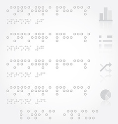 Braille Infographics Design Template vector image