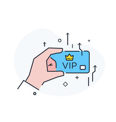 Business credit card vip workflow growth vector