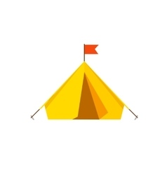 Camping tent isolated on white background vector