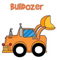 Cartoon bulldozer of art vector image