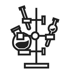 chemical flask stand icon simple style vector image