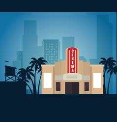 Cityscape buildings scene icons vector