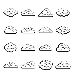 clouds icons set simple style vector image