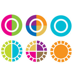 colorful statistics icons vector image