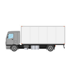 commercial truck truck in flat style isolated vector image