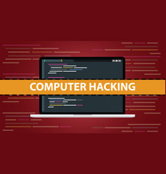 Computer hacking concept with code script vector