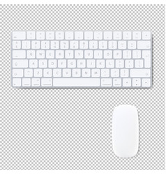 Computer keyboard with mouse isolated transparent vector