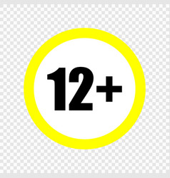 content rating symbol vector image