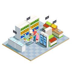convenient shop family composition vector image