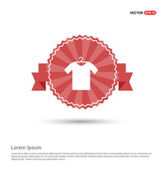 cotton t-shirt icon - red ribbon banner vector image