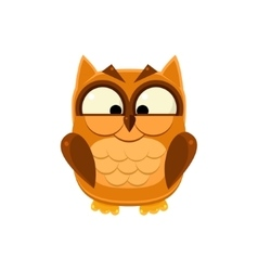 Cross-eyed Brown Owl vector image
