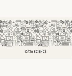data science banner concept vector image