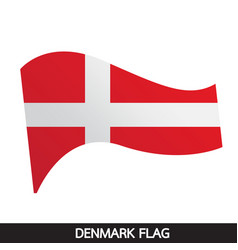 denmark flag design vector image
