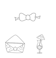 Design of party and birthday symbol set of vector