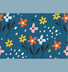 ditsy floral backgroundcute pattern in small vector image