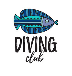 diving club vector image