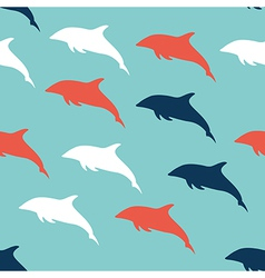 Dolphin seamless pattern background vector