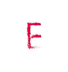 E brush template design vector