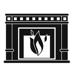 electric fireplace icon simple style vector image