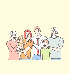 family portrait motherhood fatherhood vector image
