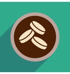 Flat web icon with long shadow coins vector