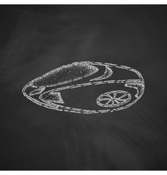 flying car icon vector image