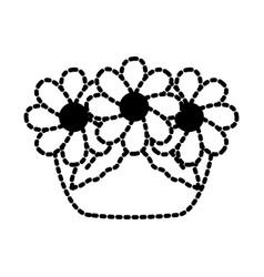 garden flowers pot vector image