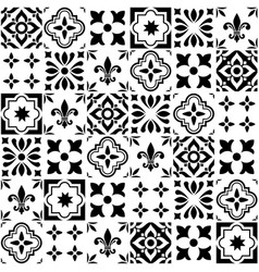 Geometric tile design portuguese or spanis vector