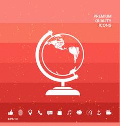 Globe symbol - icon vector