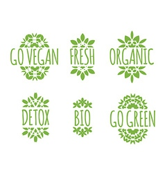 Go Vegan label vector