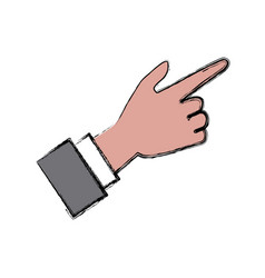 hand pointing with finger vector image