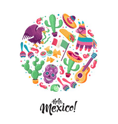 hola mexico poster vector image