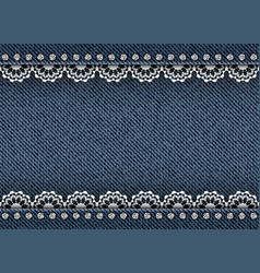 jeans with lace and spangles vector image