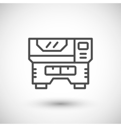 Laser machine line icon vector