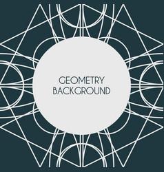 Magic geometry background vector