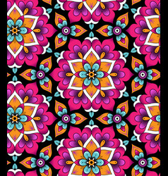 Marrakesh rosettes pattern vector