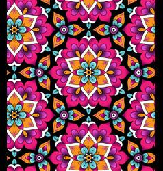 Marrakesh rosettes pattern vector